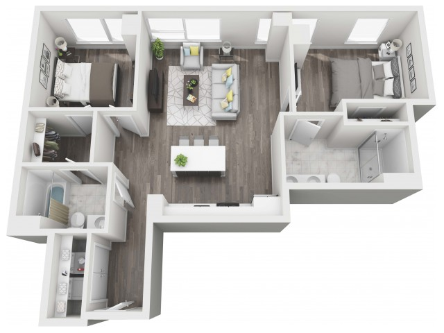 UNIT 03 | 3D FLOOR PLAN