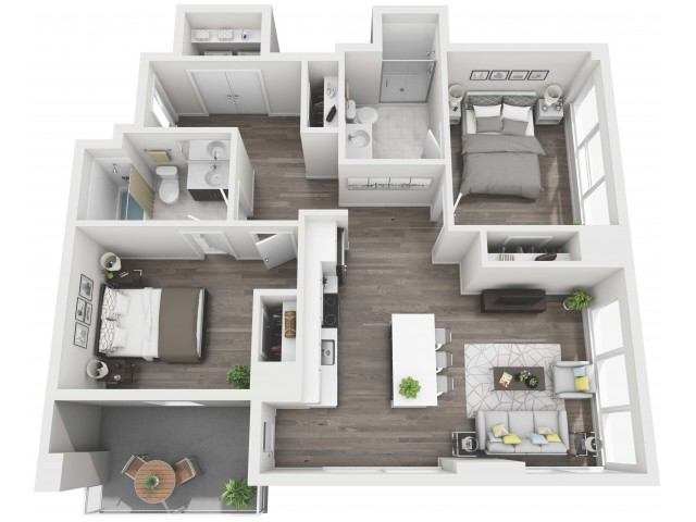 UNIT 06 | 3D FLOOR PLAN