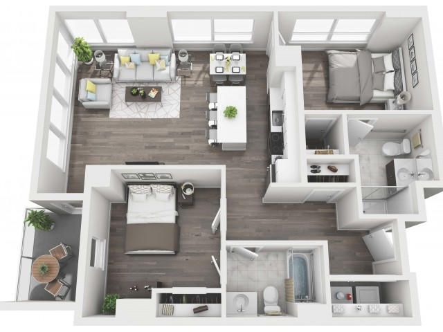 UNIT 13 | 3D FLOOR PLAN