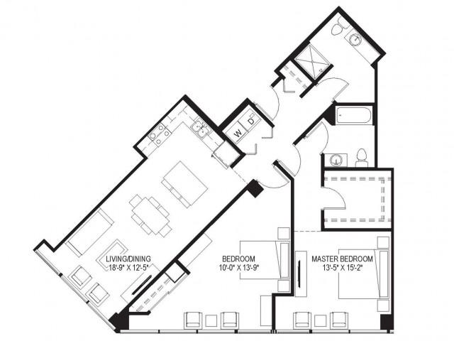 2 Bath Apartment In Milwaukee Wi