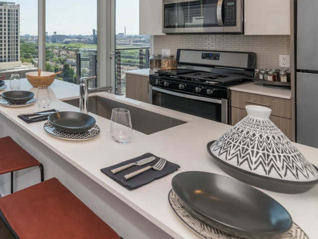 Image of Quartz Kitchen Countertops for Eleven 40