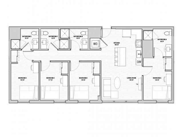 4x4 Penthouse A
