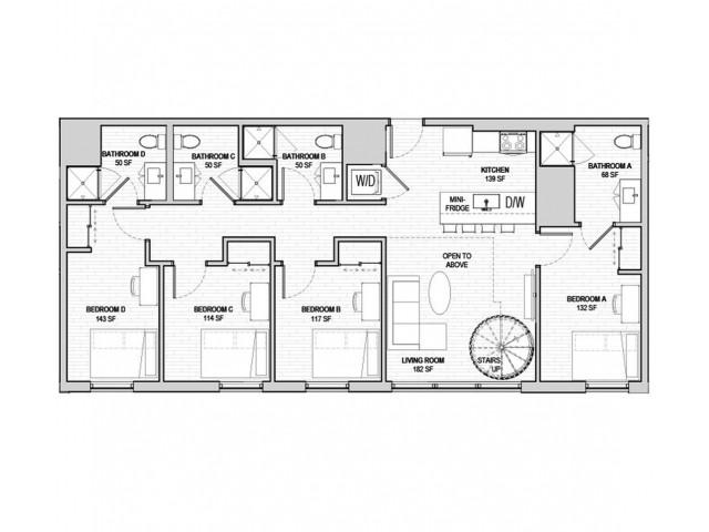 5x5 Penthouse Mezzanine A Lower Level