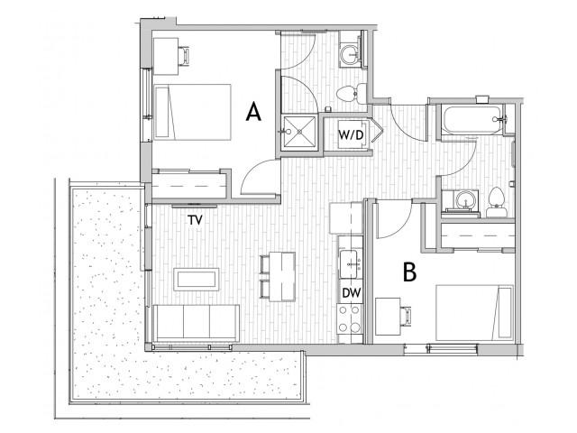 2x2 B Balcony