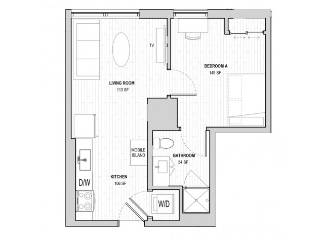 1x1 Penthouse A Apply Today for our Waitlist