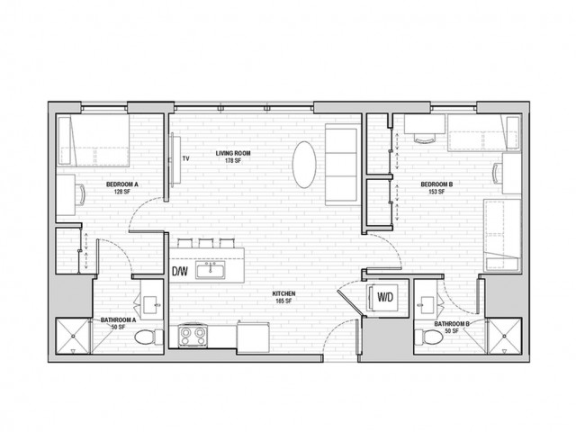 2x2 Penthouse Shared Private A