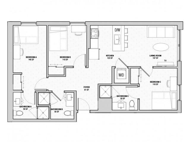 3x3 Penthouse A