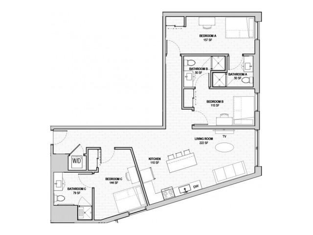 3x3 Large Penthouse B
