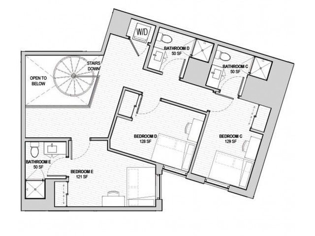 5x5 Loft B Upper Level
