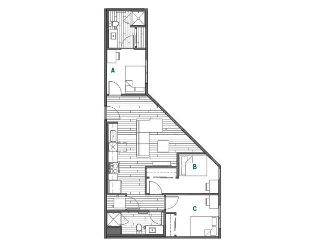 3x2A Master Bedrooms