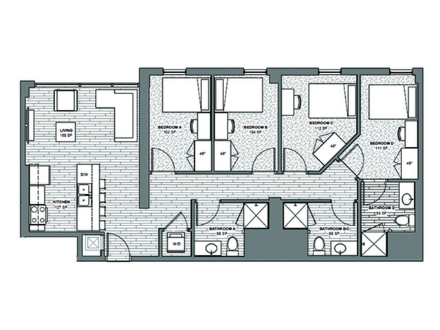 4x3 Penthouse One Space Remaining