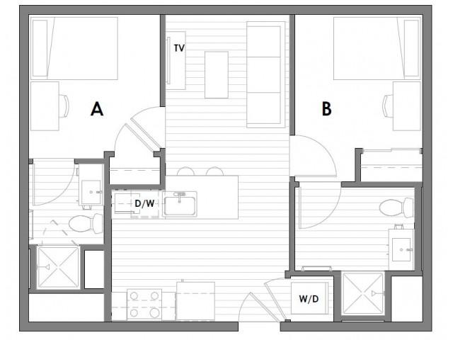 2x2 A-Fewer than 5 spaces