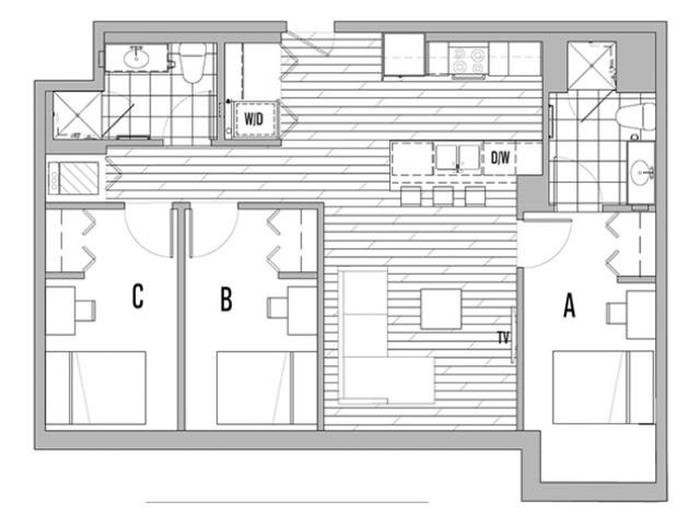 3x2 B Terrace - Less than 5