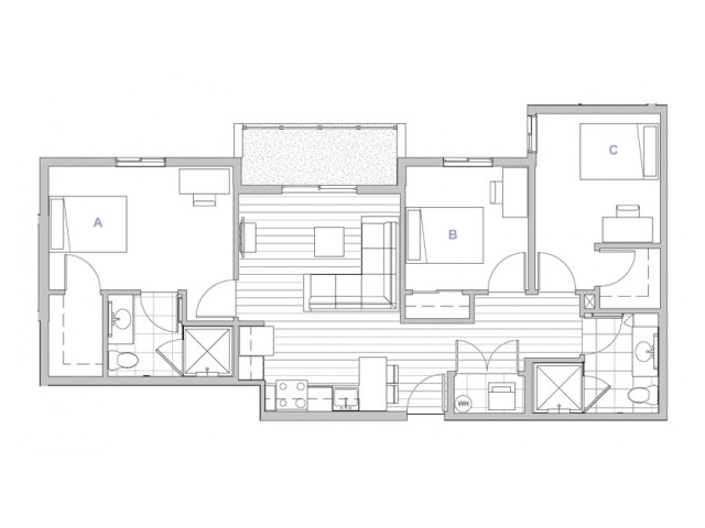 3x2 Penthouse Master Suite