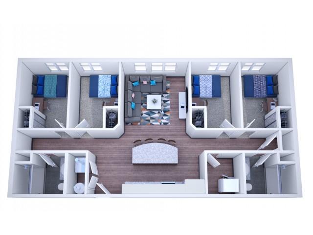 4 x 2 Apartment!