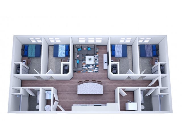4 x 2 Apartment