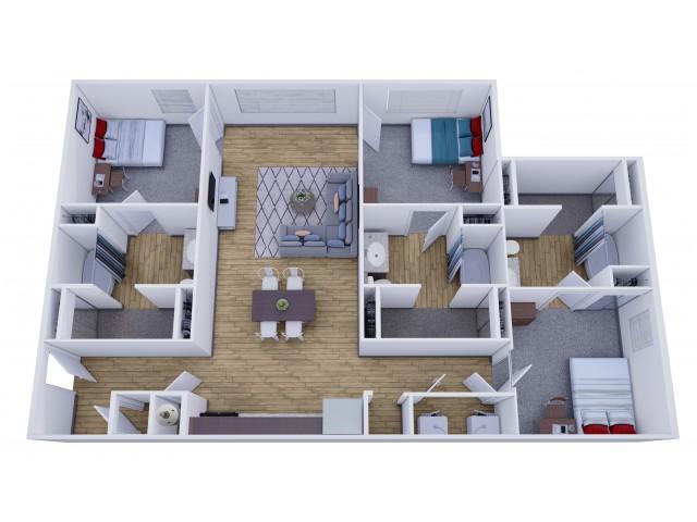 2 3 Bedroom Off Campus Student Apartments In Tuscaloosa Al