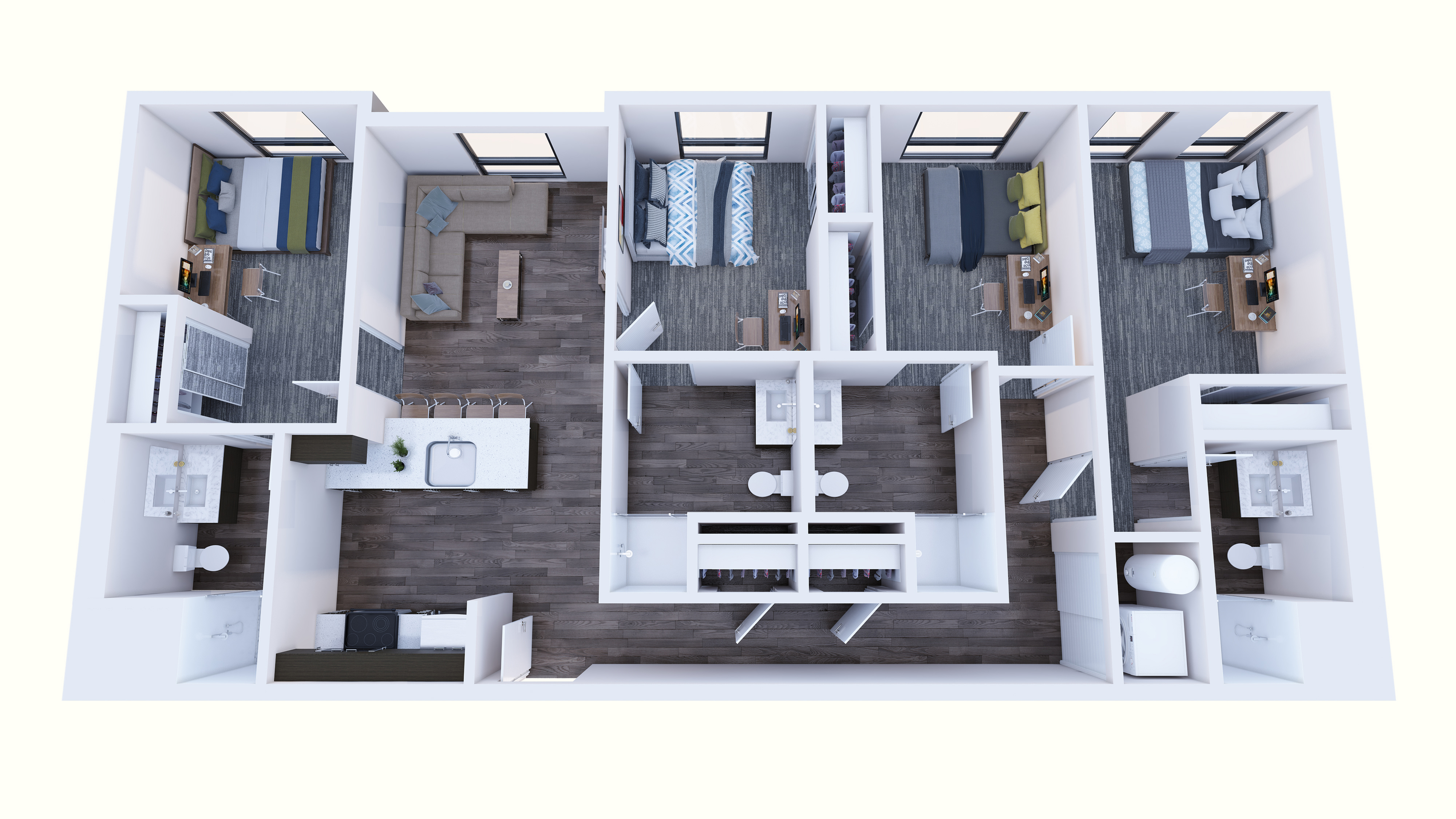 4x4 Balcony - Fewer than 5 spaces