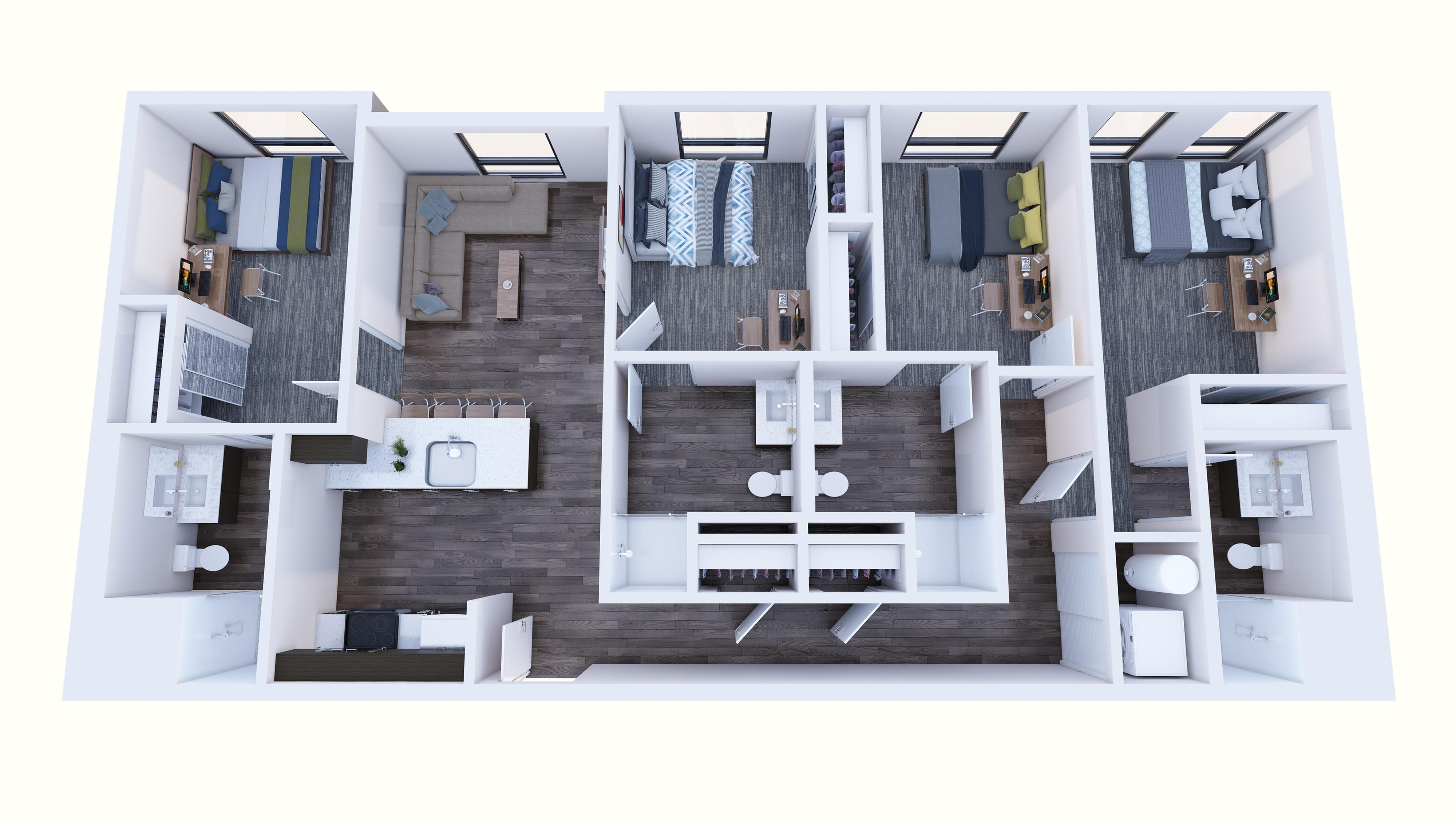 4x4 Balcony - One left