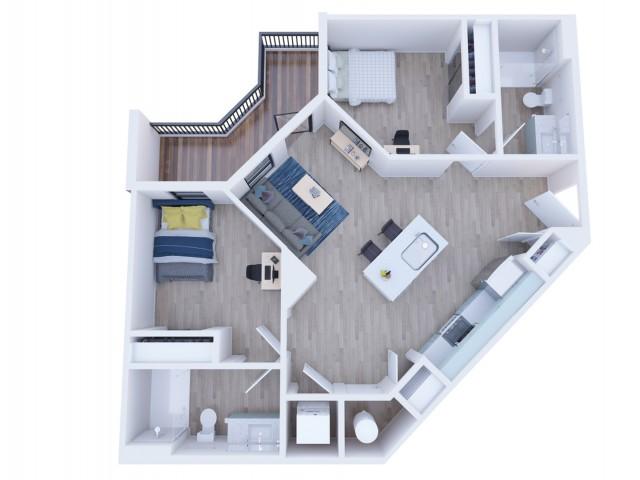 2x2 Balcony