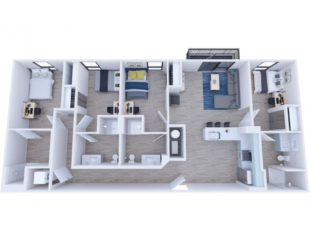 4x4 Balcony