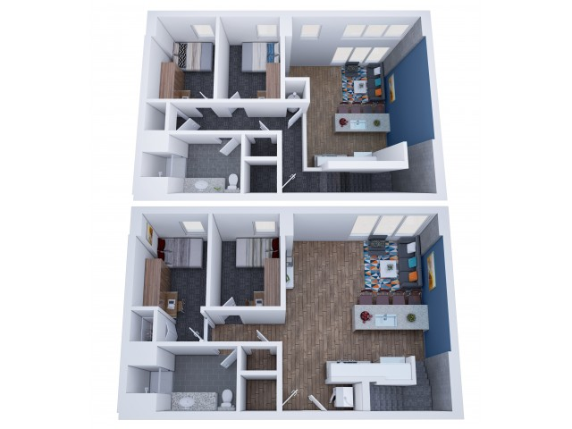 2 4 Bedroom Student Apartments In Champaign Il
