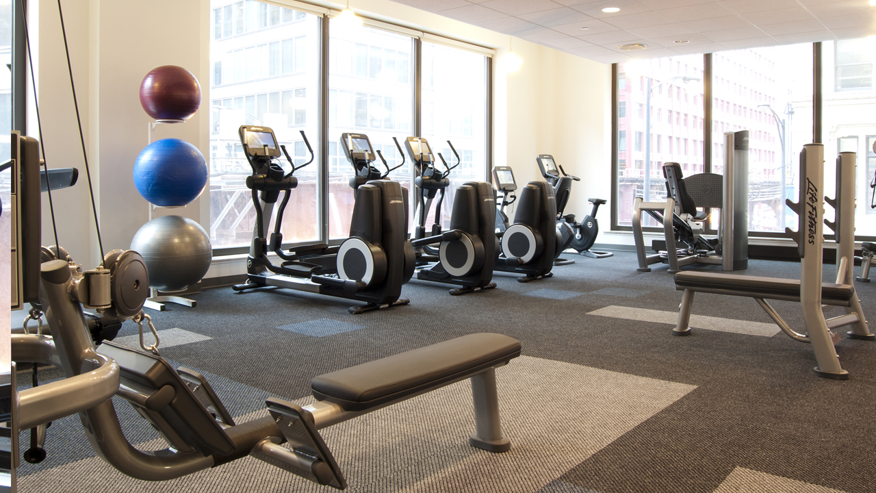 Work Out Center, Fitness Center, Weight Machines, Free weights, elliptical, treadmill