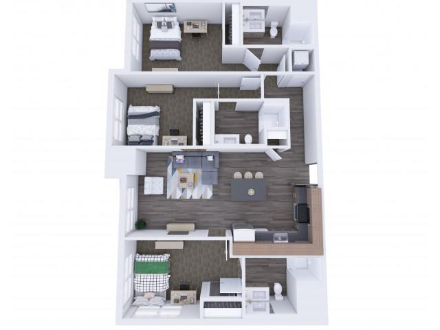 3x3 Floor Plan