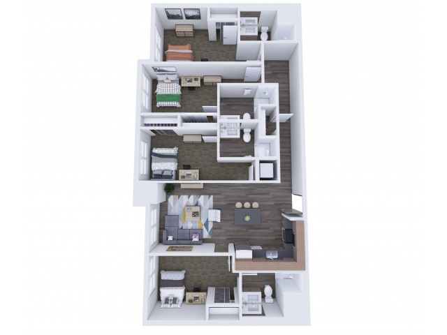 4x4 Floor Plan