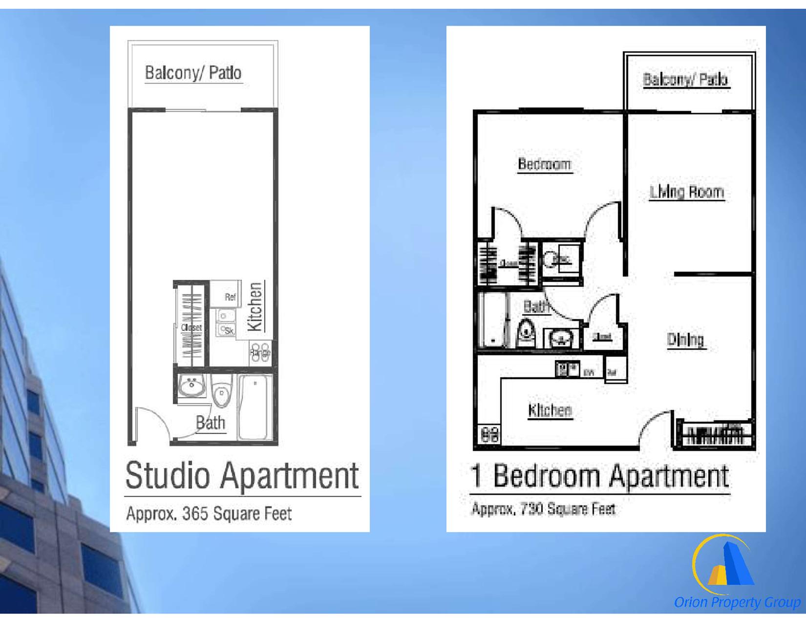 Brochure includes info on Studio & 1 bed/1 bath