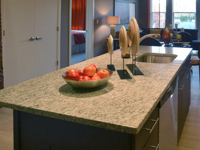 Image of Granite kitchen counter tops for ICON Residences at The Rotunda