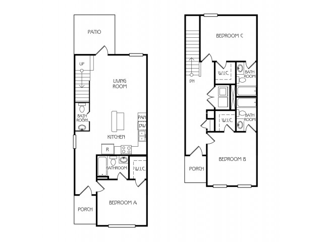 0 For The Oakview Furnished Floor Plan
