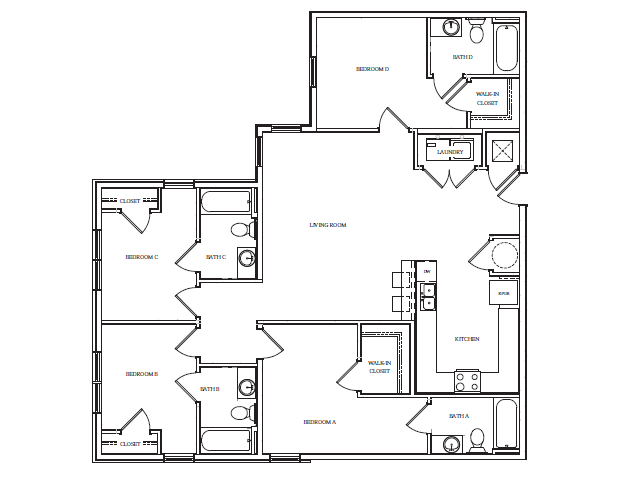 Studio 4 Bed Apartments Check Availability The Standard At Boone