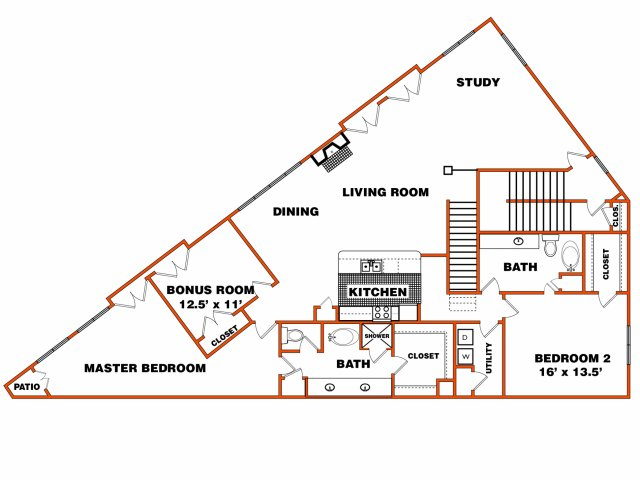 Flat 3 | Trinity Loft | Dallas Apartments