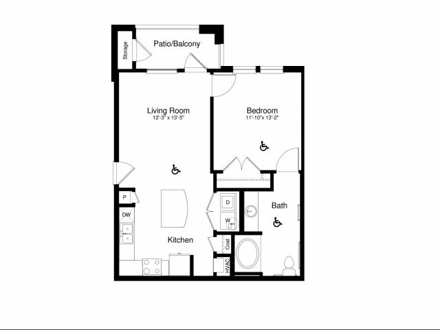 A2 ADA | The Enclave at Mira Lagos  | Apartments Grand Prairie TX