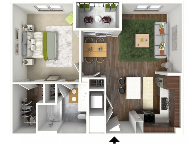 A4 Floorplan (3D) - Example with Furniture