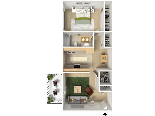 Floor Plan 2 | Apartments Near Sacramento State | University Village