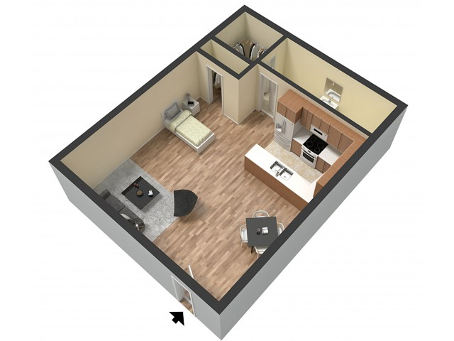 Studio Floor Plan | Studio Apartments Sacramento | Villa Regia