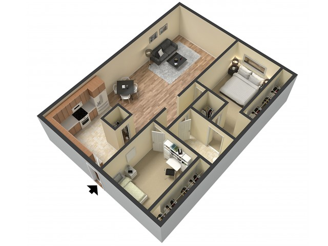 2 Bdrm Floor Plan | 1 Bedroom Apartments Sacramento Ca | Villa Regia