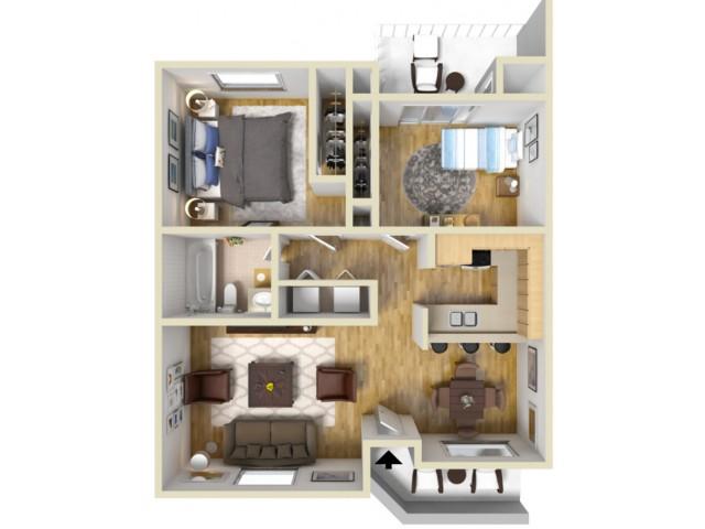 Apartment Two Bedroom Floor Plan