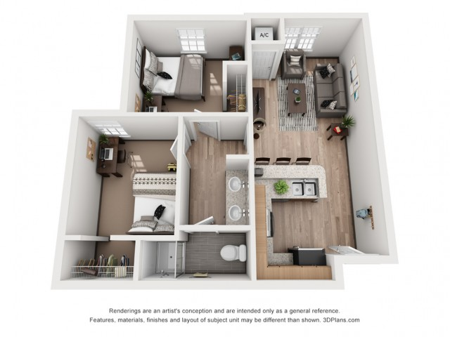 Renderings are an artist\'s conception and are intended only as a general reference.