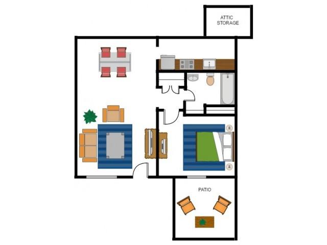 1 Bedroom Floorplan