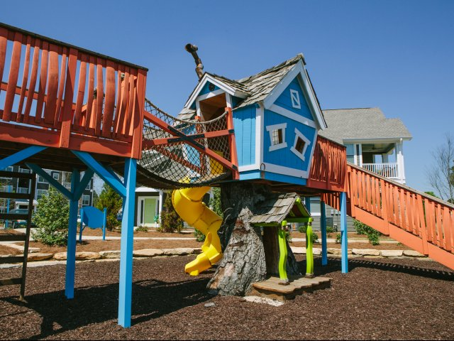 Image of Whimsical Tree House & Playground for Lakeside Village