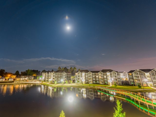 Image of 6 Acre Lake with Lighted Bridge for Lakeside Village