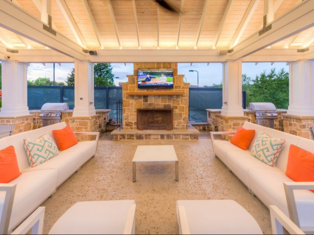 Image of Poolside Pavilion w/ Outdoor Fireplace for Lullwater