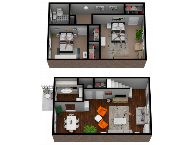2 Bedroom 1 Bath 1100 Sqft Town Home