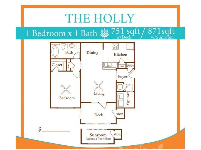 1X1 Holly w/ Sun Room