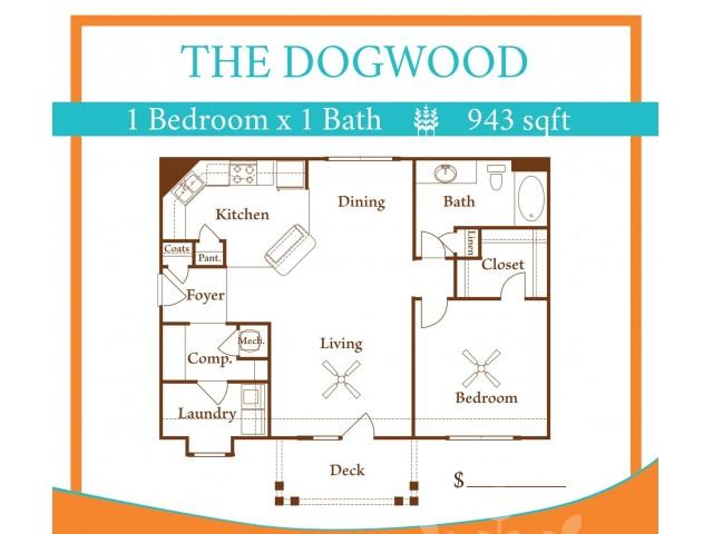 1X1 Dogwood w/ one car garage