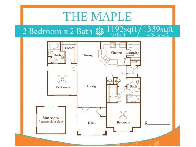 2X2 Maple w/ Sun Room