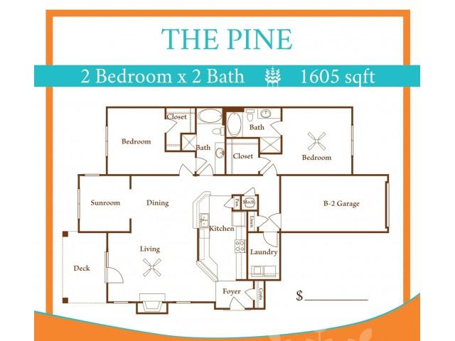 2X2 Pine w/ one car garage